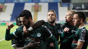 Kasimpasa Konyaspor Riad Bajic Goal Celebration STSL 04102017
