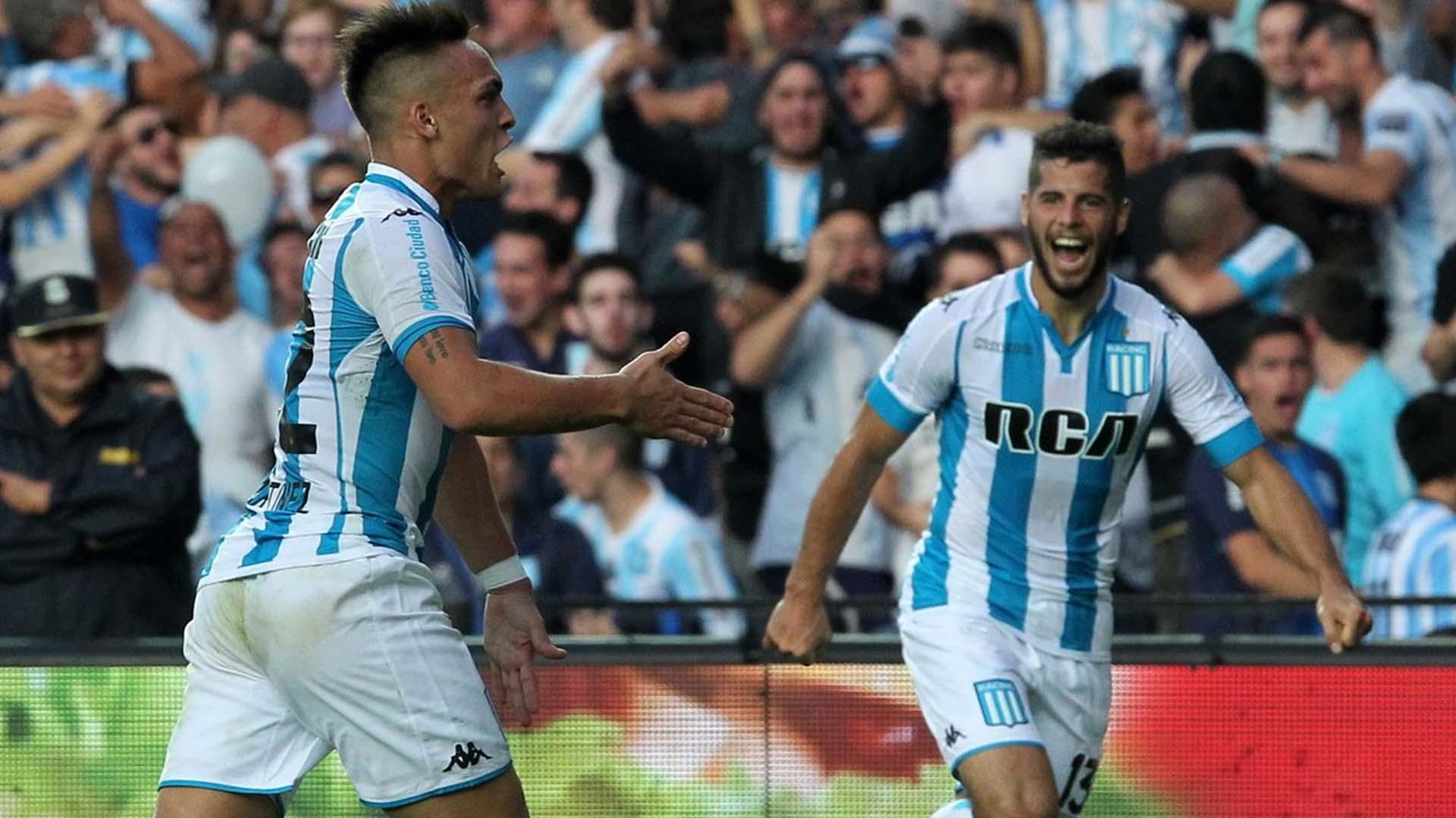 Lautaro Martinez Emanuel Insua Racing Gimnasia La Plata Primera Division 06052017