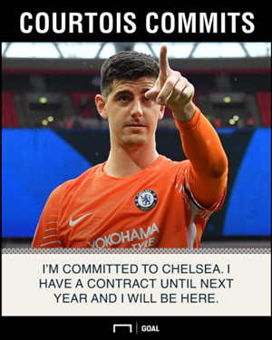 Thibaut Courtois staying at Chelsea