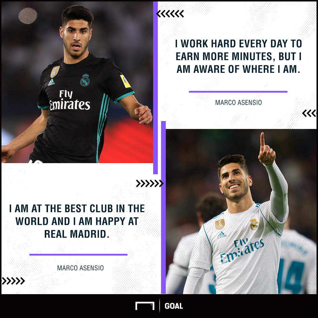 Marco Asensio happy at Real Madrid