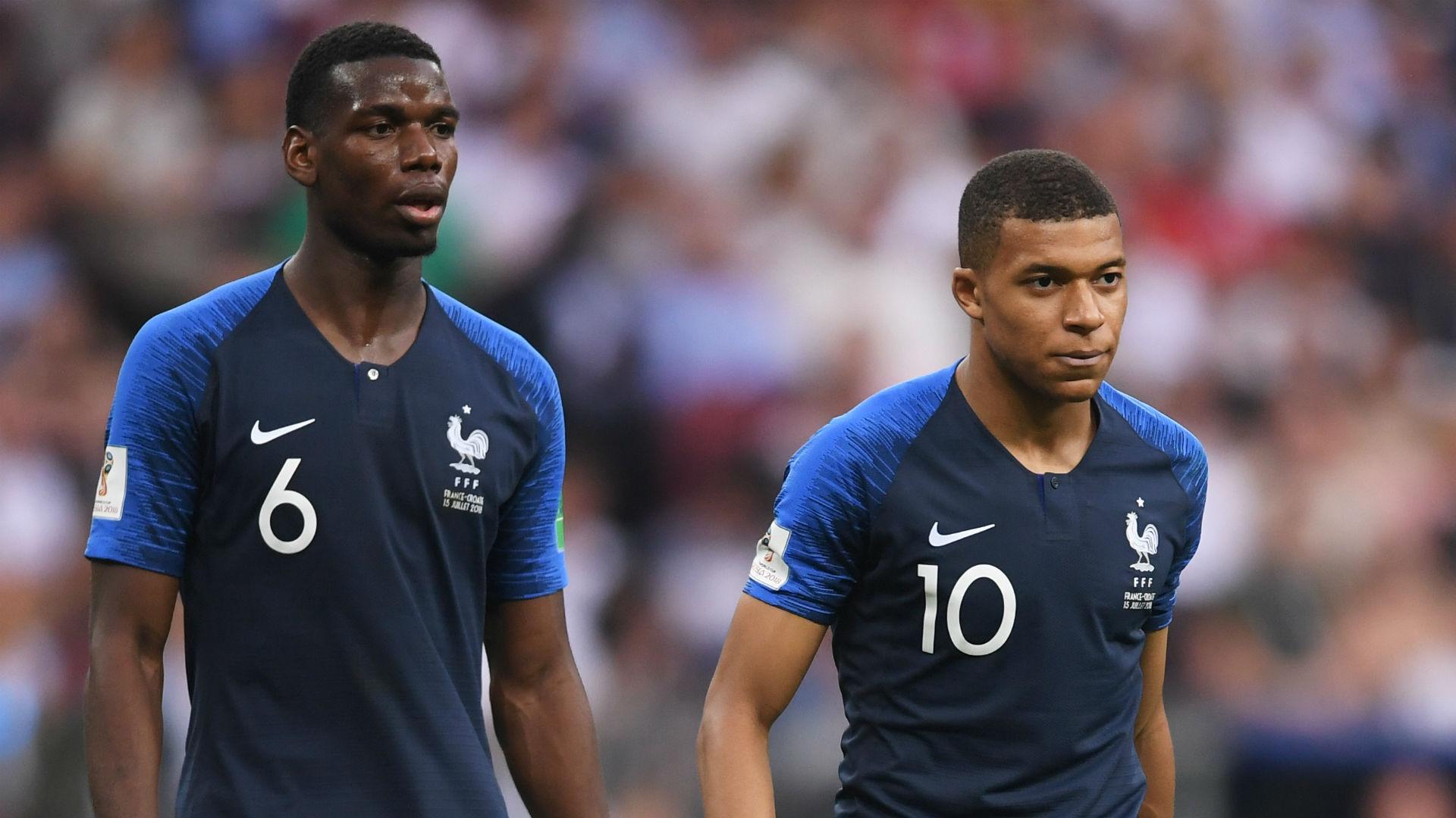 aul Pogba Kylian Mbappe France World Cup 2018