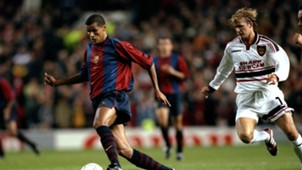 Rivaldo, David Beckham, Barcelona vs Man Utd