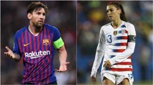 Lionel Messi Alex Morgan split