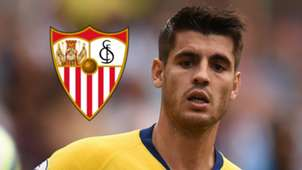 Alvaro Morata, Sevilla logo