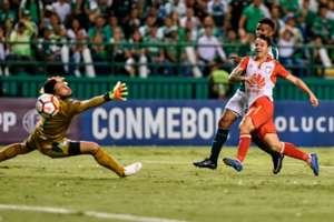 Guastavino gol Deportivo Cali - Santa Fe Copa Sudamericana 2018