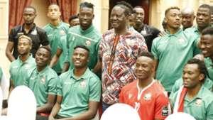 Raila Odinga Faruk Shikalo David Owino and Harambee Stars.