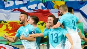 Slovenia celebrate v Scotland 08102017