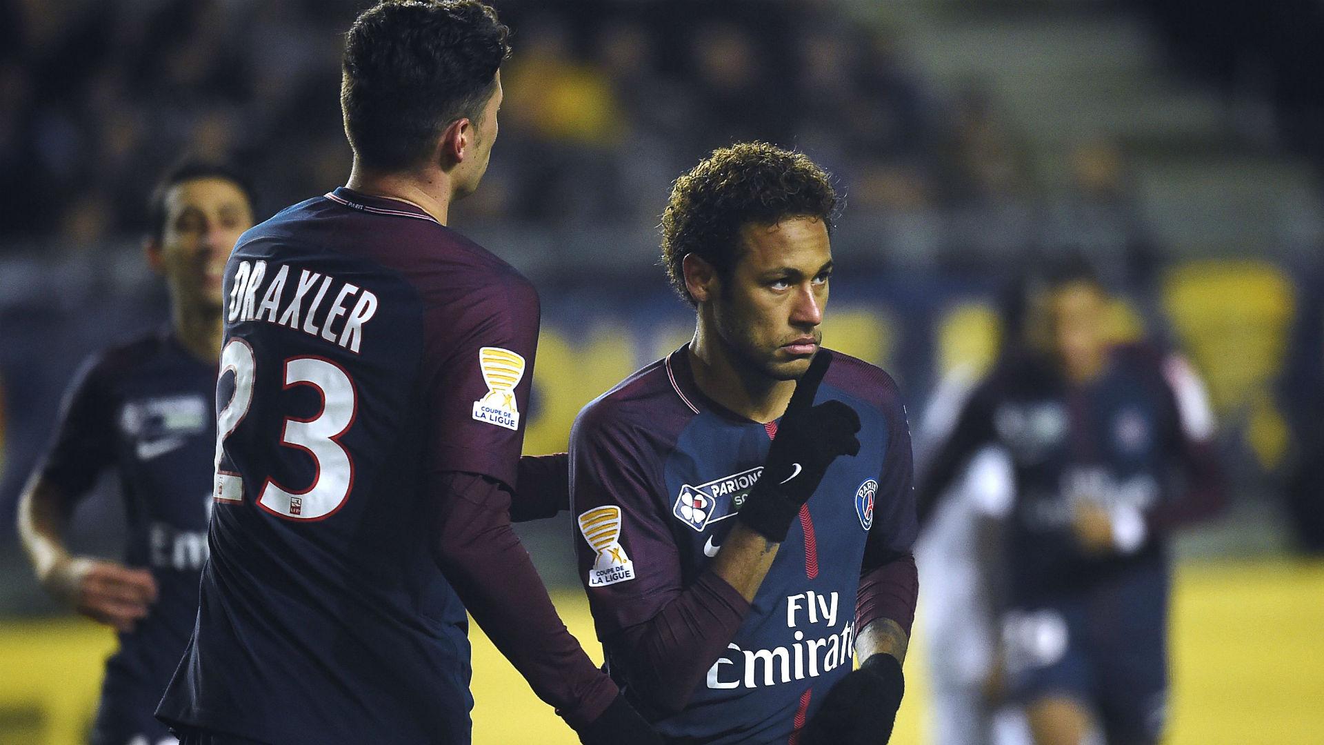 Neymar Amiens PSG Coupe de la Ligue 10012018