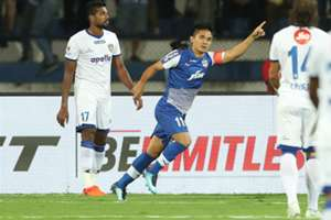 Sunil Chhetri Bengaluru FC Chennaiyin FC 2017-18 Indian Super League Final