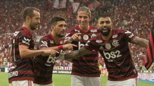 Everton Ribeiro, Arrascaeta, Filipe Luis Gabigol Flamengo Palmeiras Brasileirão 01 09 2019