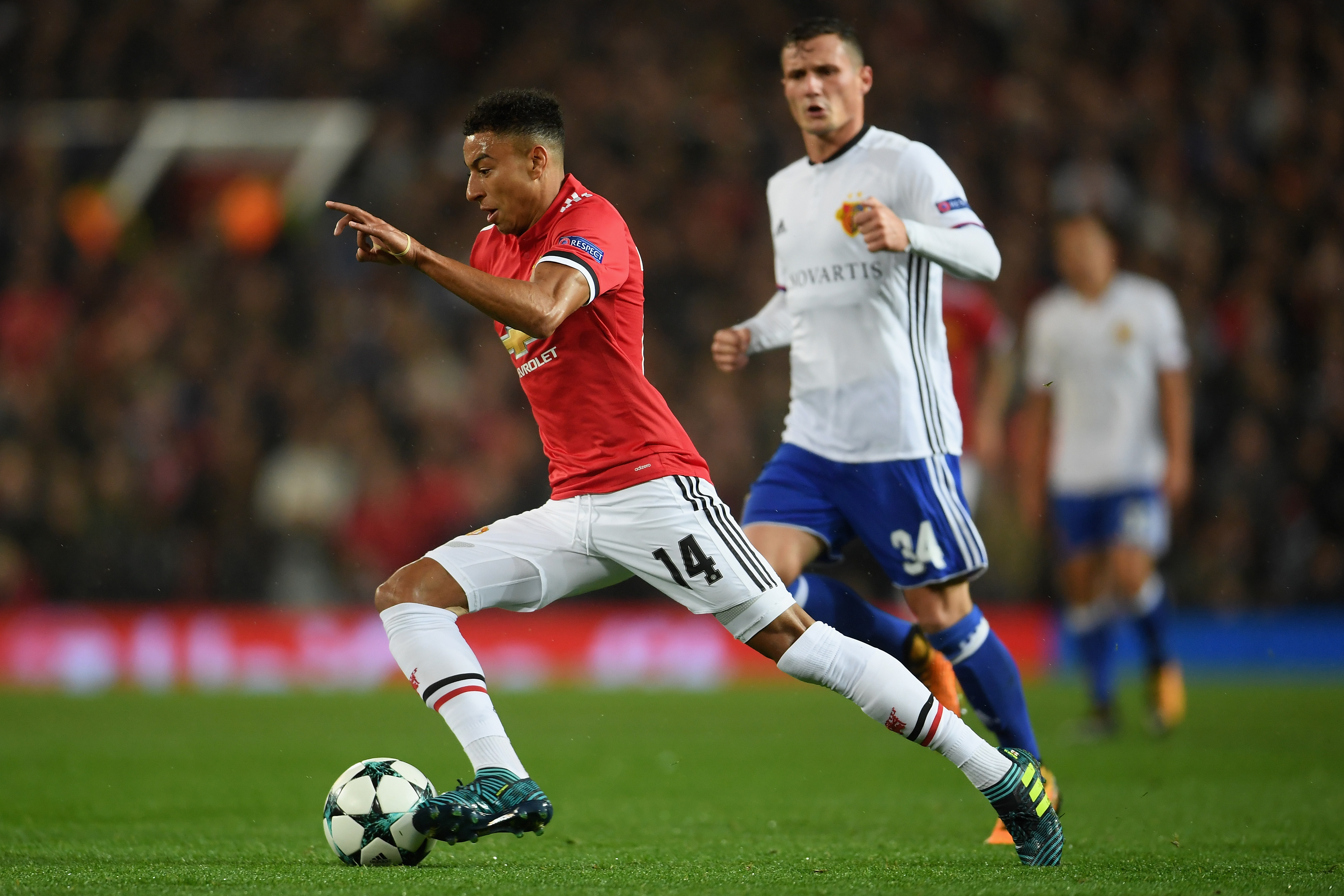 Jesse Lingard Manchester United Basel Champions League