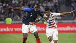 Paul Pogba Tyler Adams France USA friendly 2018
