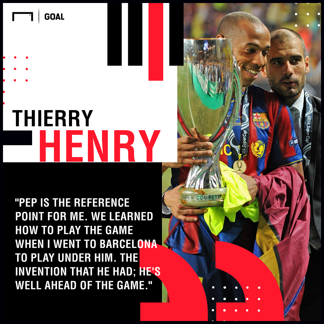 Thierry Henry Pep Guardiola PS