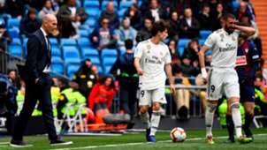 Zinedine Zidane Alvaro Odriozola Karim Benzema Real Madrid Eibar LaLiga 06042019