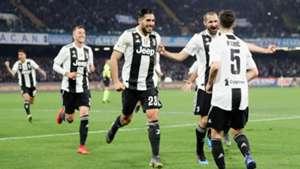 Juventus Miralem Pjanic celebrating Napoli