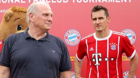 Miroslav Klose Uli Hoeneß FC Bayern Chin