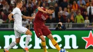 Dzeko Roma Plzen Champions League