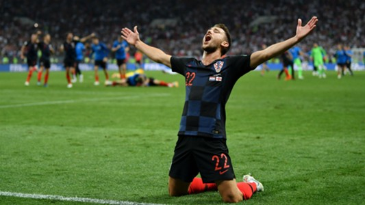 croatia england - josip pivaric celebration - world cup - 11072018