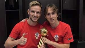 Ivan Rakitic Luka Modric Kroatien 15072018