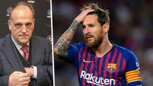 Javier Tebas Lionel Messi split