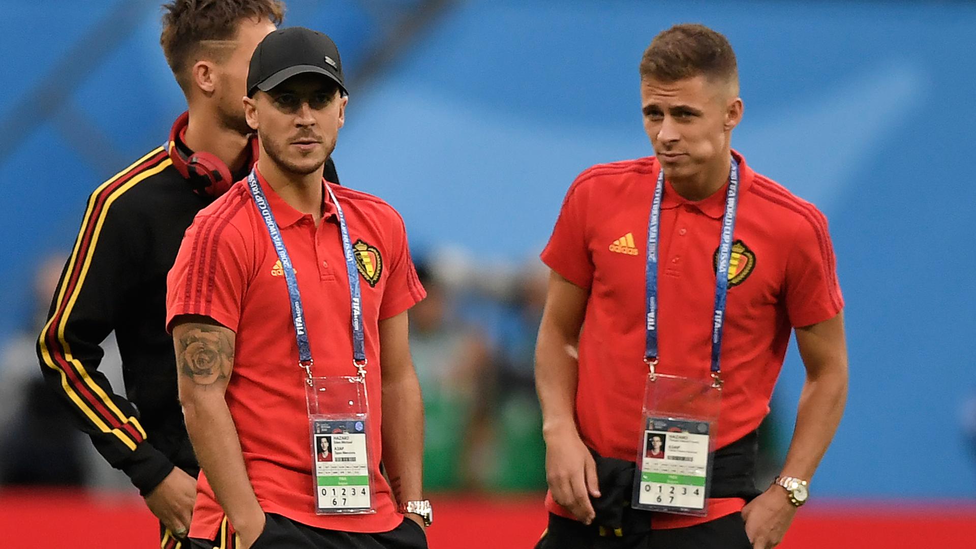 Eden Hazard Thorgan Hazard Belgium 2018