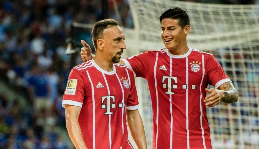 Ribéry and James - Bayern Munich 2017
