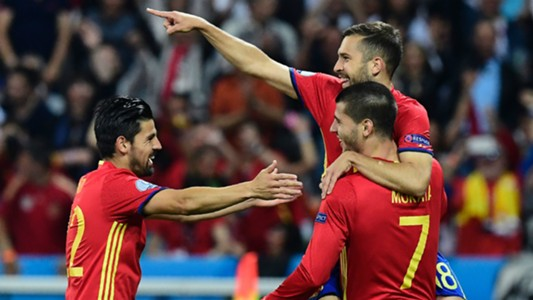 Nolito Jordi Alba Morata Spain Turkey Euro 2016.