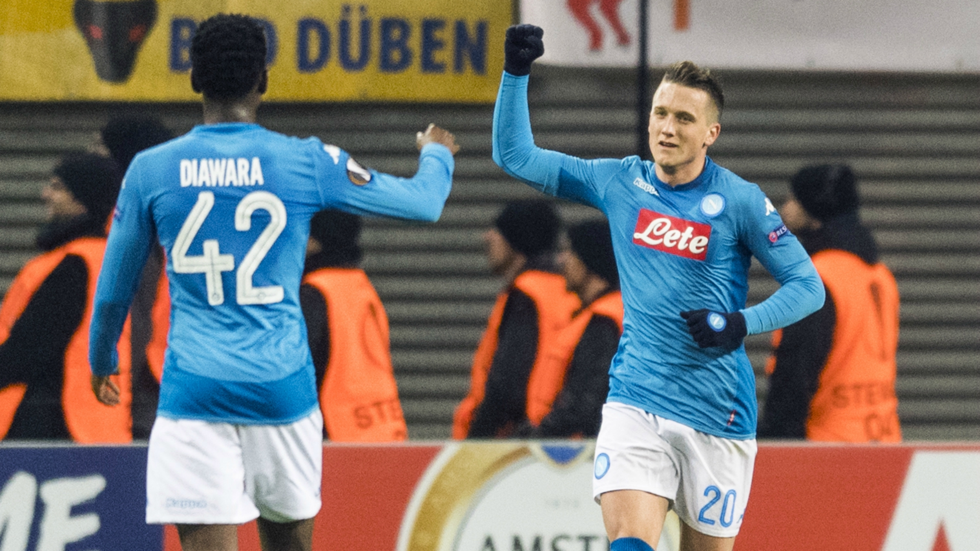 Piotr Zielinski Amadou Diawara RB Leipzig Napoli UEFA Europa League 02222018