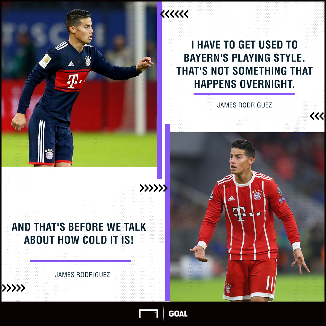 James Rodriguez Bayern Munich form cold