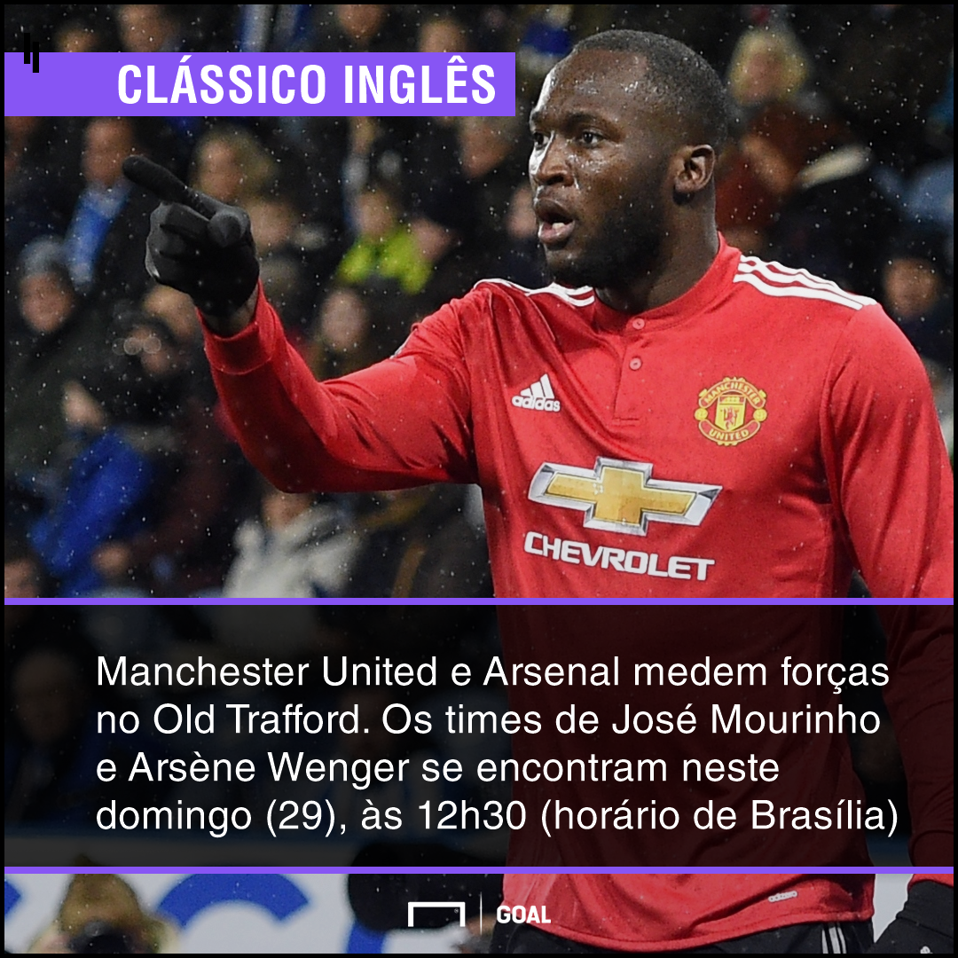 GFX Manchester United contra o Arsenal
