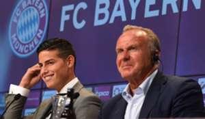 James Rodríguez & Rummenigge Bayern Munich