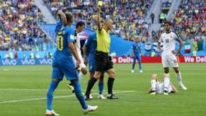 Neymar Yellow Card World Cup Brazil Costa Rica