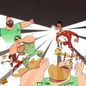 Cartoon Firmino's rays vs Arsenal