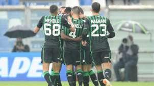 Sassuolo celebrating Bologna Serie A