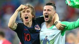 Luka Modric Danijel Subasic Croatia 2018