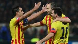 Lionel Messi Andres Iniesta Xavi