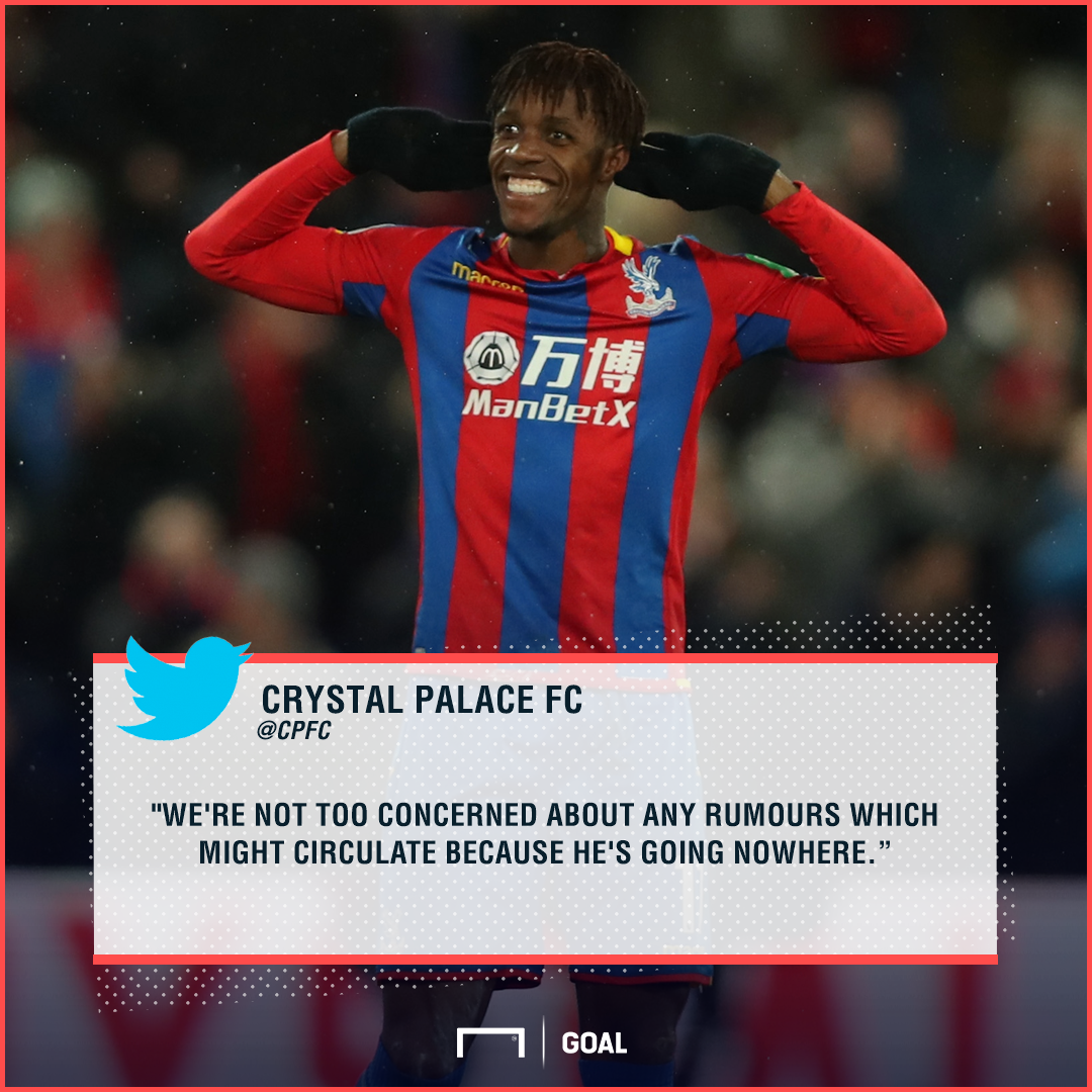 Crystal Palace Wilfried Zaha going nowhere