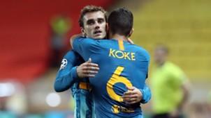 Antoine Griezmann Koke Atletico Madrid Champions League 2018