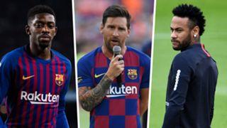Ousmane Dembele Lionel Messi Neymar