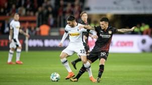 100318 Bayer Leverkusen Borussia Mönchengladbach Vicenzo Grifo Charles Aránguiz