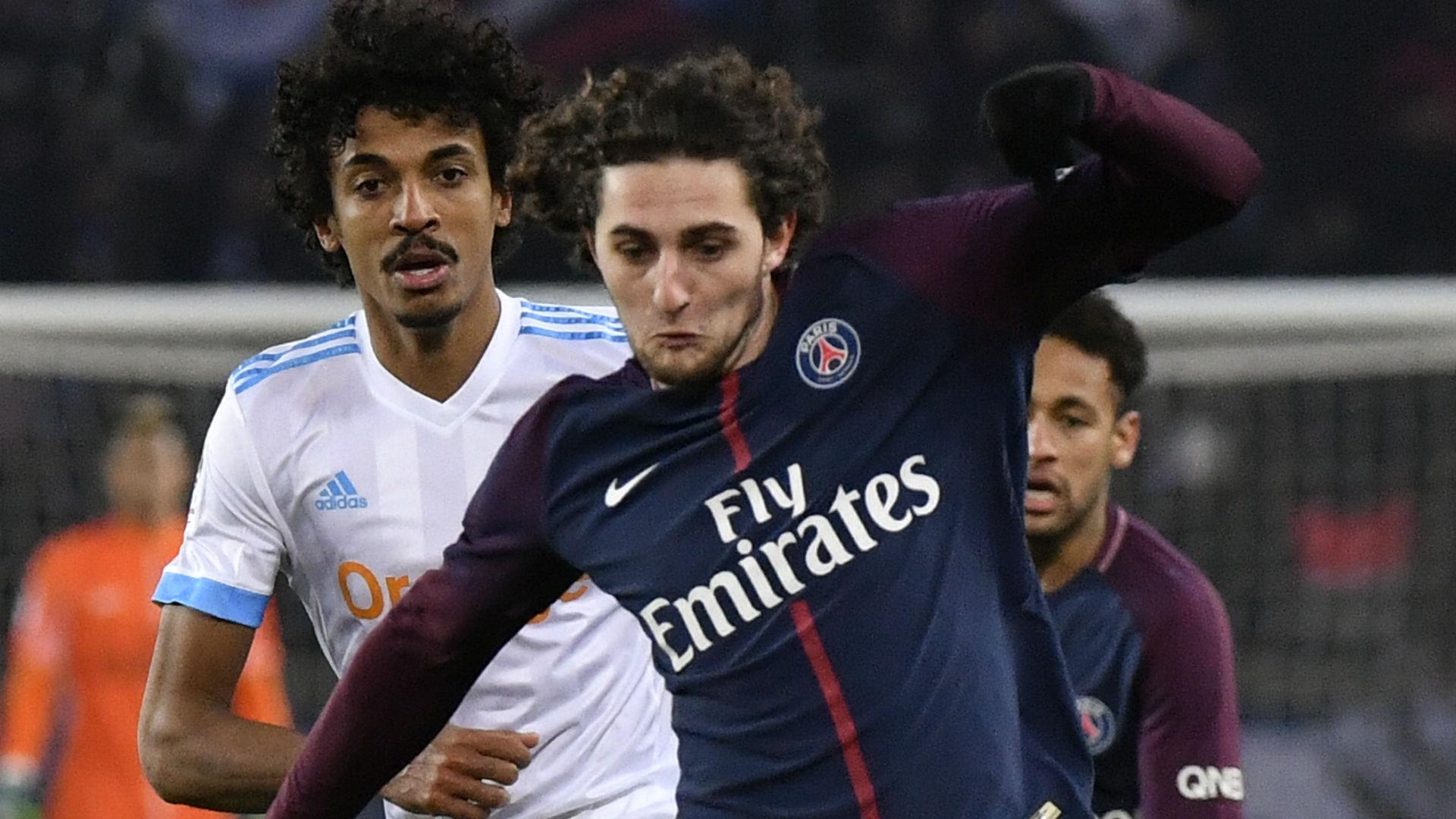 Adrien Rabiot Luiz Gustavo PSG Marseille Ligue 1 25022018