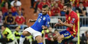 Lorenzo Insigne Dani Carvajal Spain Italy WC Qualifiers