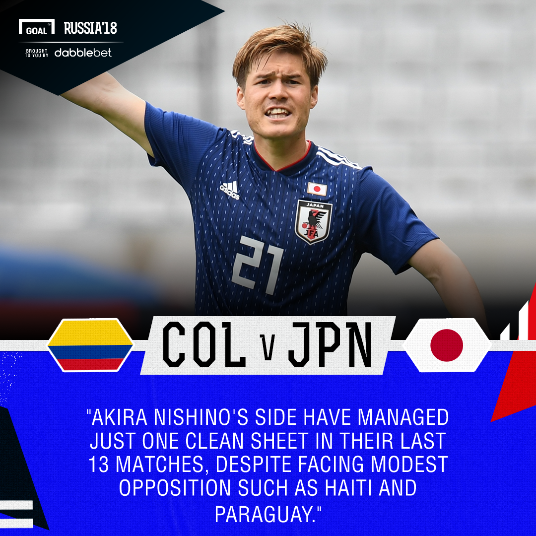 Colombia Japan graphic