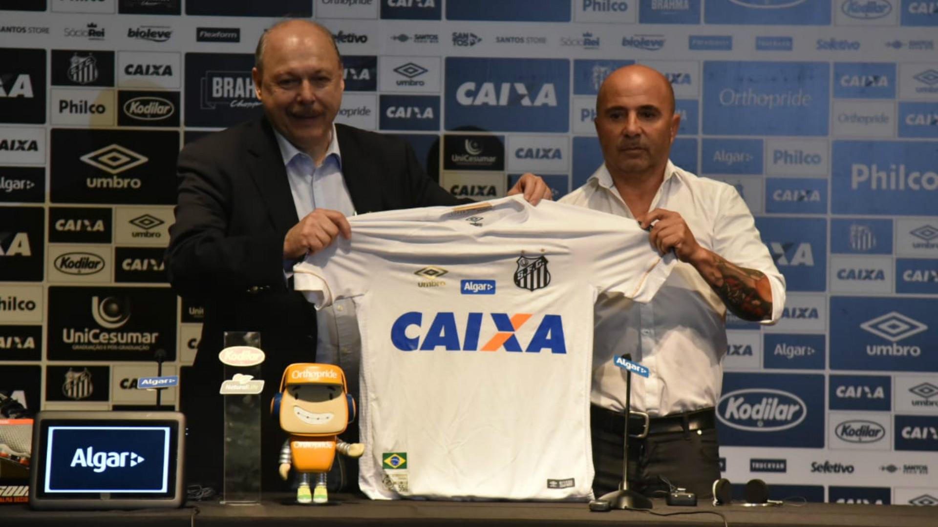 Sampaoli e José Carlos Peres - Santos - 18/12/2018