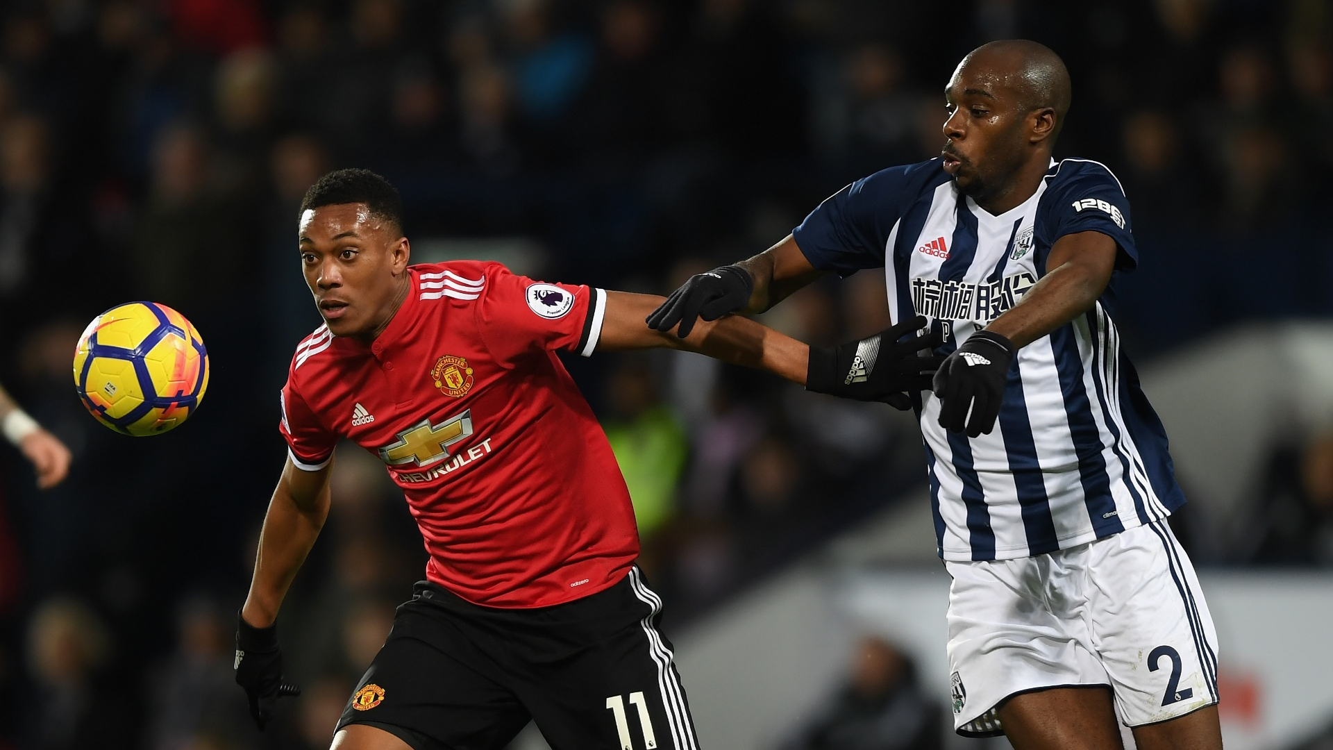 Allan Nyom, West Brom, Anthony Martial, Man Utd