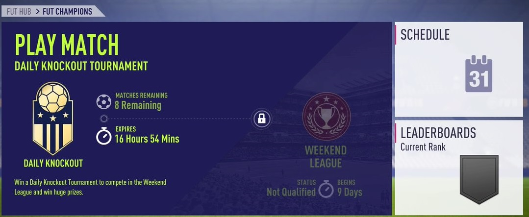 FIFA 18 Ultimate Team Weekend League