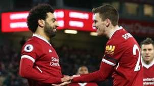 Mohamed Salah Andy Robertson Liverpool