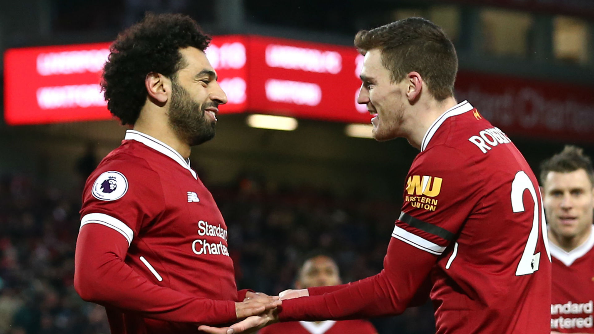Mohamed Salah Andy Robertson Liverpool