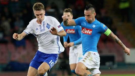Yarmolenko Hamsik Napoli Dynamo Kiev Champions League