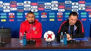 Arturo Vidal y Juan Antonio Pizzi Copa Confederaciones 2017